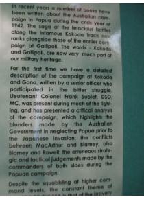 History Kokoda and Gona by Commander 16th Battalion
