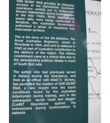 History of the 4th Battalion RAR Borneo during Indonesia Confrontation