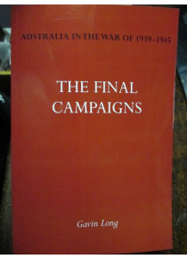 Australian Official History of the Final Campaigns in the Pacific