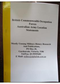 BCOF Australian Base Locations in Japan