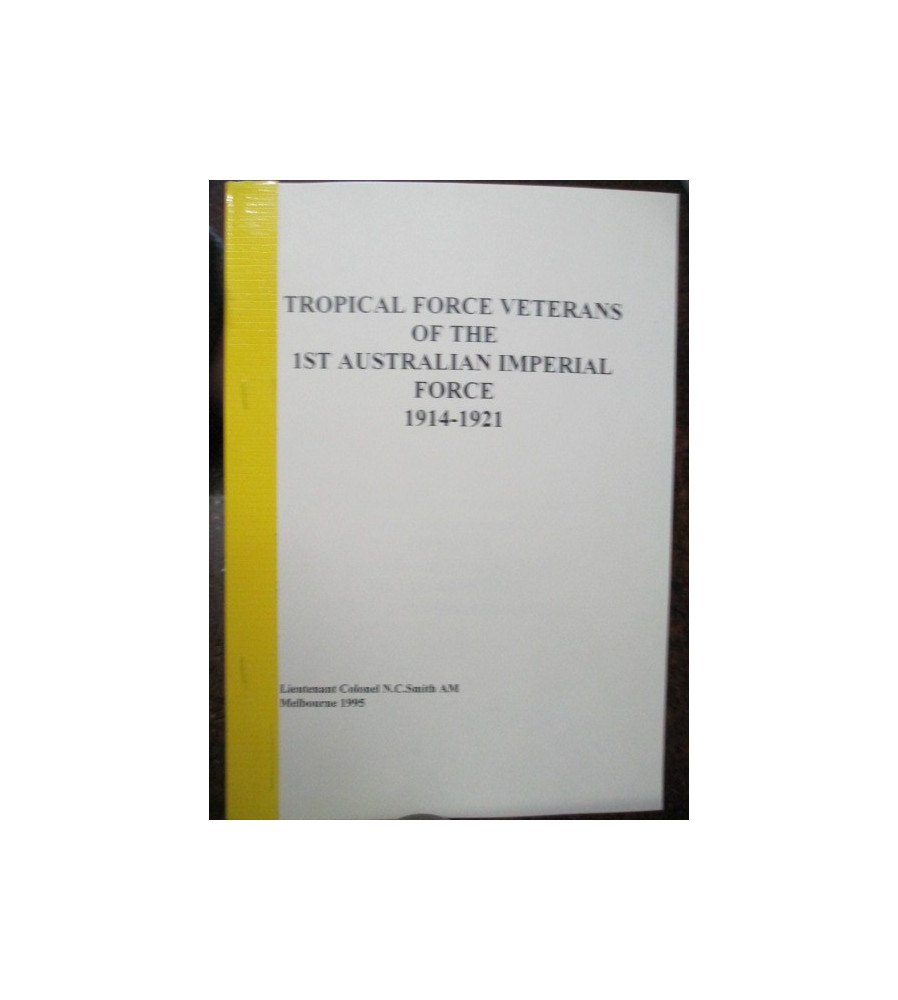ANMEF List Tropical Force Veterans 1914-21 nominal roll book