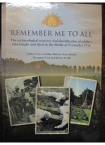 Remember Me To All - KIA Australians ID Fromelles book