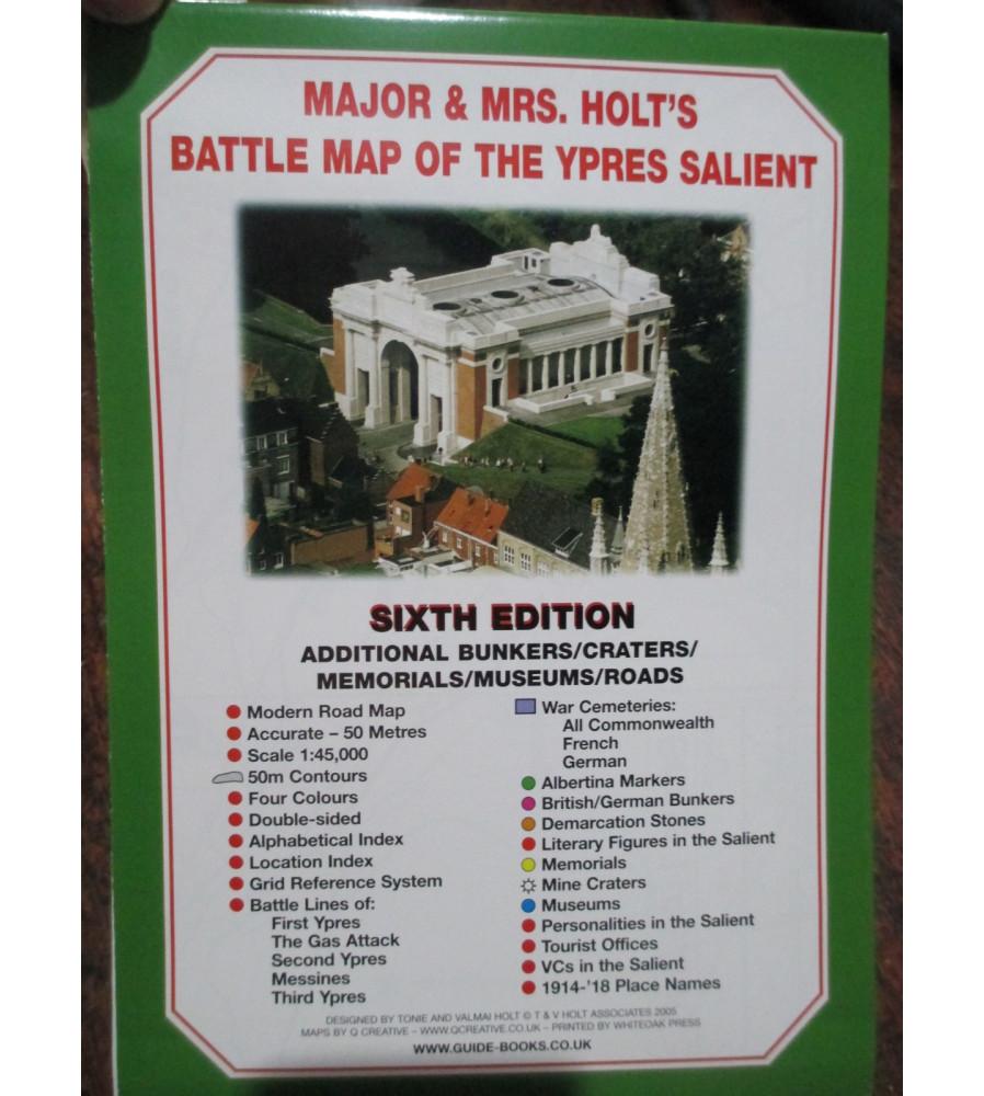 Major & Mrs Holt's Battle Map Ypres Passchendaele Area Battlefield