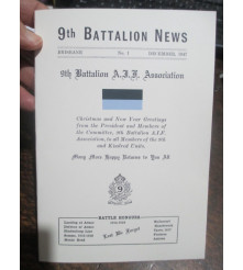 9th Battalion News No 1 - by 9th Battalion Association