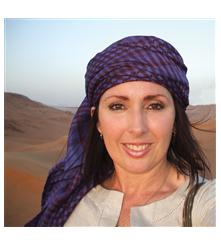 Author Kay Danes Blue Burqa