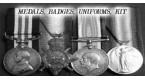 Medals Badges Uniforms 1914-18