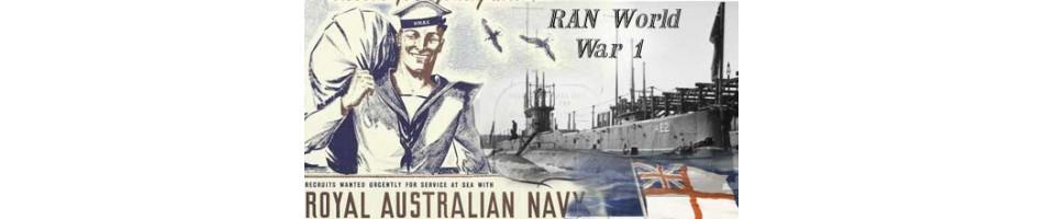 RAN Royal Australian Navy WW1  MILITARY BOOKS
