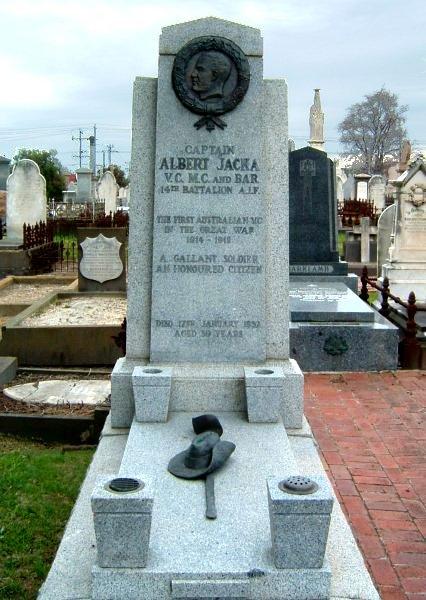 Albert Jacka VC Grave St Kilda Cemetery