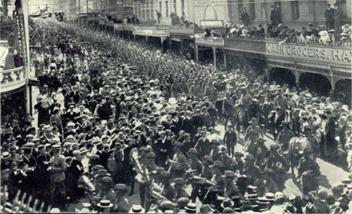 12th Battalion Historical March through Hobart WW1